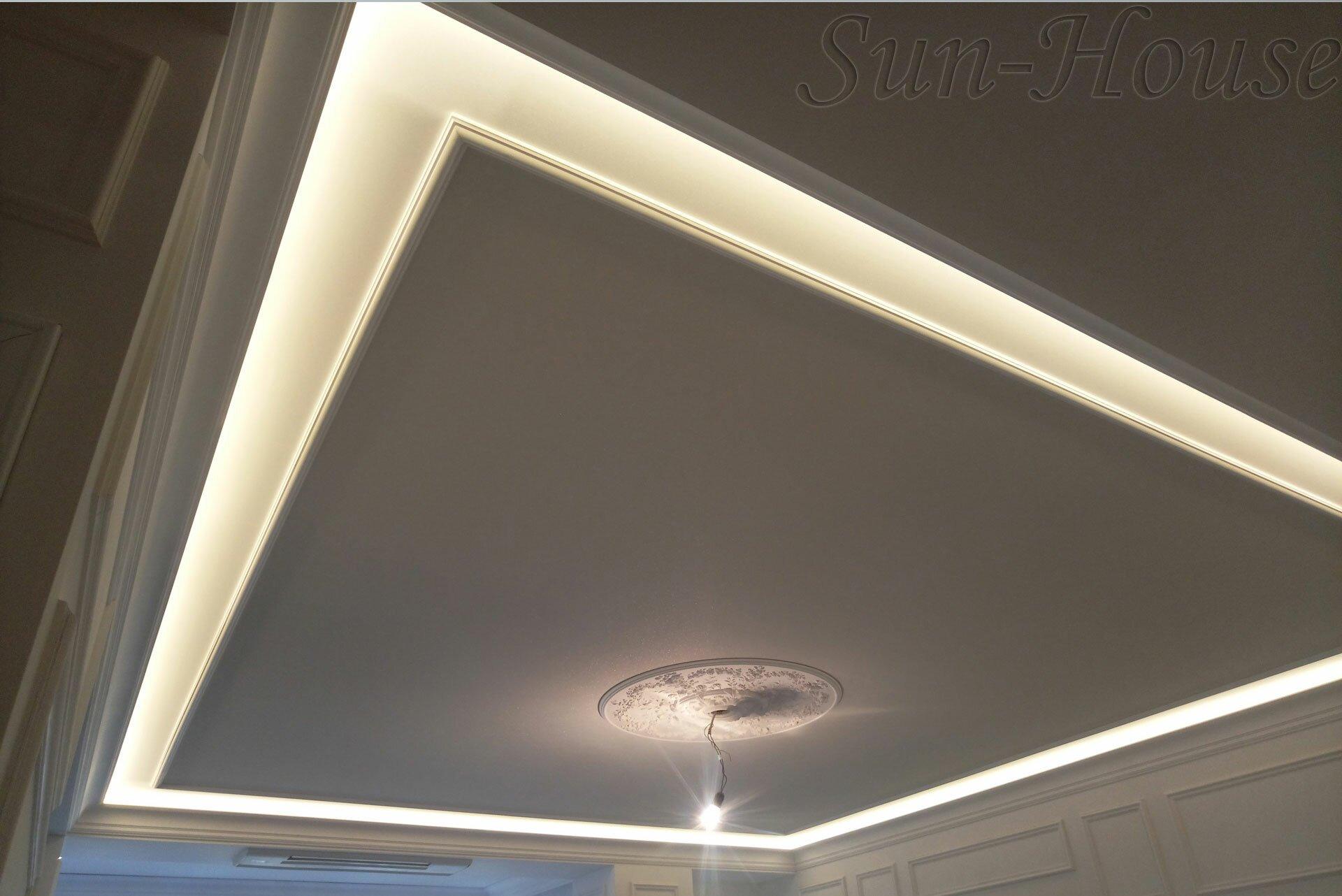 тканевый потолок Clipso с подсветкой4